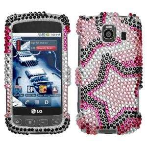 LG Optimus S Diamante Phone Protector Cover, Twin Stars