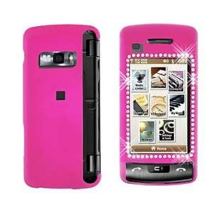 Premium   LG VX11000/enV Touch Diamond Rubber Hot Pink Cover