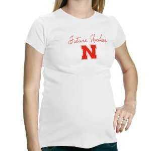Ladies White Future Husker Maternity T shirt Sports & Outdoors