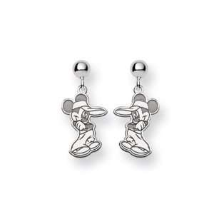 Disneys Mickey Mouse Earrings in Sterling Silver Jewelry