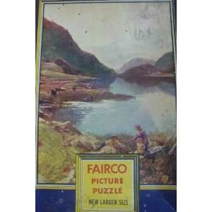 Vintage Puzzle FAIRCO Lake Mountain Scene 400 pieces