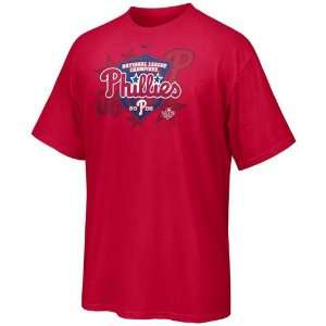 Red 2008 MLB National League Champions T shirt