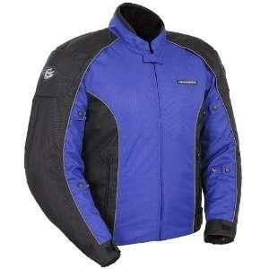 Mens Textile On Road Racing Motorcycle Jacket   Blue/Black / 2X Large