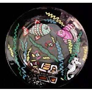 Fantasy Fish Design   Dinner/Display Plate   10 inch