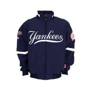 York Yankees Home Premier with World Series Patch   Navy Extra Large