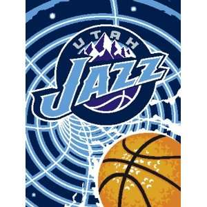 NBA 60 x 80 Inch Super Plush Throw, Utah Jazz Sports
