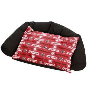 NCAA Alabama Crimson Tide Crimson Small Bolster Pet Bed