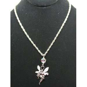 Kirks Folly Blushing Fairy Necklace ~ Silvertone