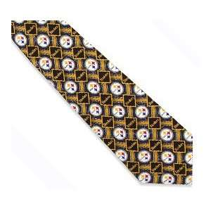 NFL Pittsburgh Steelers Block Design Silk Tie Sports