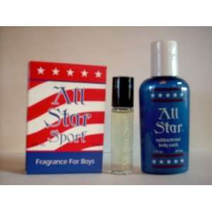All Star Sport Fragrance for Boys Gift Set with Antibacterial Body