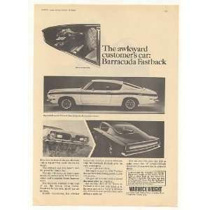 1969 Plymouth Barracuda Fastback UK Print Ad Home