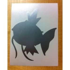 Pokemon MAGIKARP Decal Sticker. Peel and Stick METALLIC SILVER