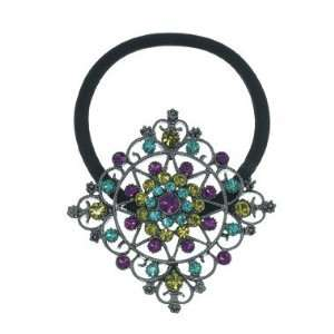 Multi Color Crystal Instant Glamour Ponytail Holder Beauty