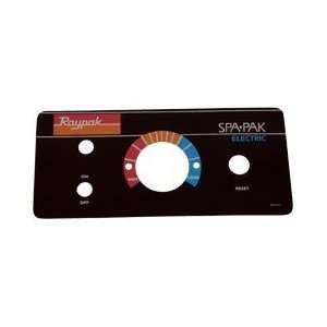 Raypak Pool / Spa 5.5kw & 11.0kw Heaters Dial Plate 900615