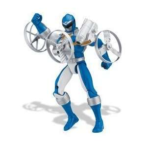 Power Rangers 5 Blue Ranger with Gyro Launcher Toys