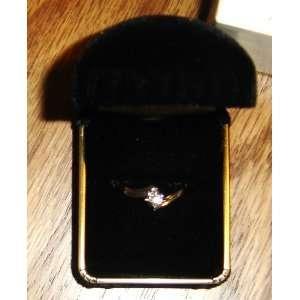 Diamond & White Gold Promise Ring size 7