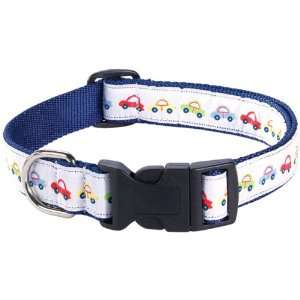 Guardian Gear Young Puppy Dog Pet Collar Blue Cars 14 20