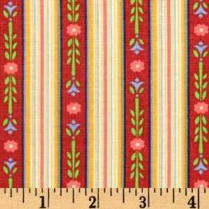 Wide Jim Shore Stripe Red Fabric By The Yard Arts, Crafts & Sewing