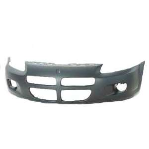 Dodge Stratus Primed Black Replacement Front Bumper Cover Automotive