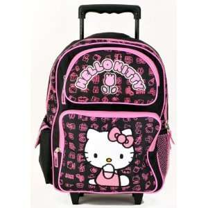 Hello Kitty Tulip Black Rolling Backpack Toys & Games