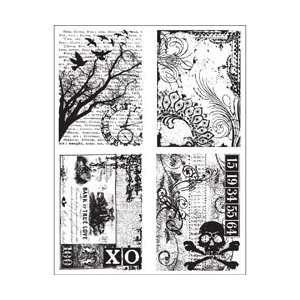Tim Holtz Cling Rubber Stamp Set Ornate Collages