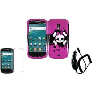 Design Hard Case Cover+LCD Screen Protector+Car Charger for Samsung