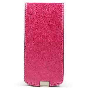 Hot Pink PREMIUM MAGNUM LEATHER CASE Cover with FLIP COVER