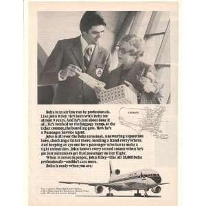 1977 Delta Airlines Passenger Service Agent John Riley