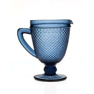 Belmont Blue Glass Pitcher by Godinger