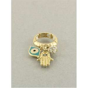 Fashion Jewelry Desinger Inspired Evil Eye and Hamsa Ring