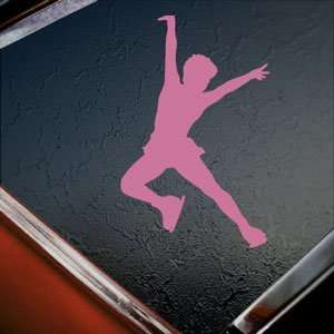 Ice Skate Skating Pink Decal Car Truck Window Pink Sticker