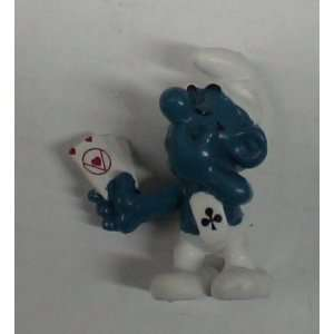 The Smurfs Smurf with Cards Pvc Figure