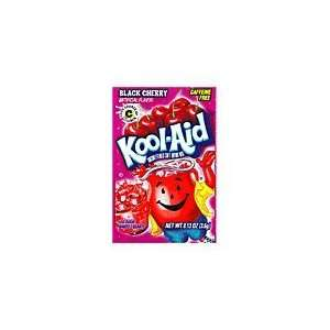 Kool Aid Black Cherry Unsweetened Soft Drink Mix, 0.13 Ounce Packets