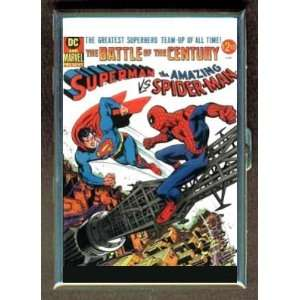 SUPERMAN SPIDER MAN COMIC BOOK ID CIGARETTE CASE WALLET
