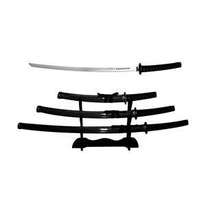 Ninja Samurai 3 pc Sword Set with Stand  Sports & Outdoors