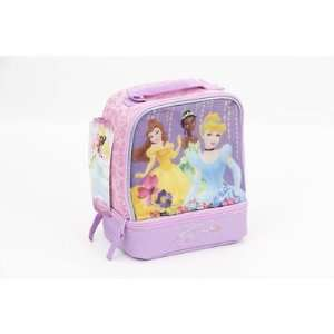 Disney Princess Insulated Lunch Bag Dual Compartments Belle Cinderella