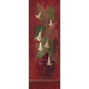 Tropical Angels Trumpets II by Gloria Eriksen 12x36
