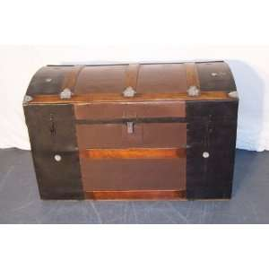 Antique Dome Top Steamer Trunk with Slats Kitchen & Dining
