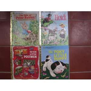 Classic Box Set of 4 Little Golden Books ; Heidi, Tale of