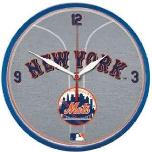 New York Mets MLB Round Wall Clock