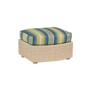 Whitecraft Oasis Wicker Cushion Patio Ottoman Patio, Lawn