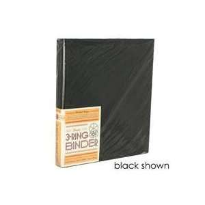 Ring Binder (1 inch Ring Capacity) with Matte Black Metal Binder