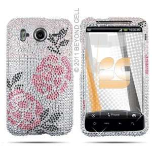 Winter Rose Crystal Bling Case for HTC Inspire 4G AT&T