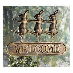 Bunnies On Parade Welcome Sign