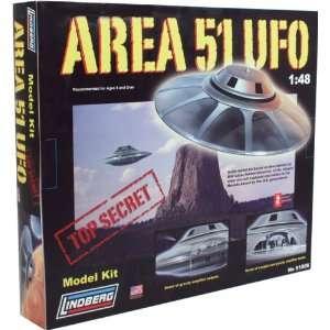 Lindberg Area 51 Ufo Replica Model Kit: Toys & Games