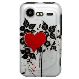 Hard Snap on Plastic RUBBERIZED With RED SACRED HEART Design Sleeve