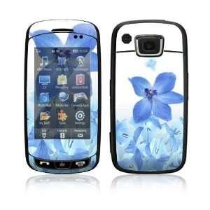 Impression Skin Decal Sticker   Blue Neon Flower