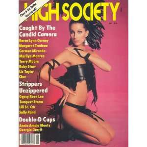 HIGH SOCIETY MAGAZINE CHER MAY 1981
