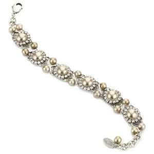 Liz Palacios Perlas Swarovski Crystal And Pearl Bracelet