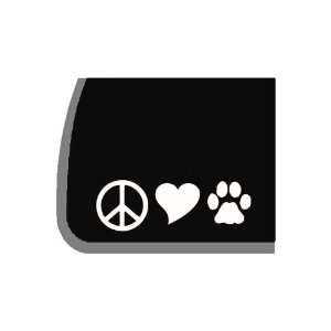 Peace, Love, Dogs Decal for Car, Truck, Notebook Etc